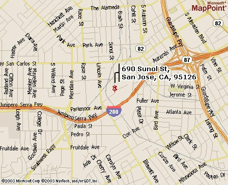 San jose street map